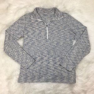 Columbia Quarter Zip Top Large Stripes